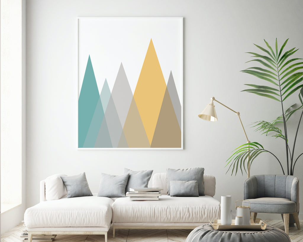 Triangle Mountain LandscapeWall Art Print