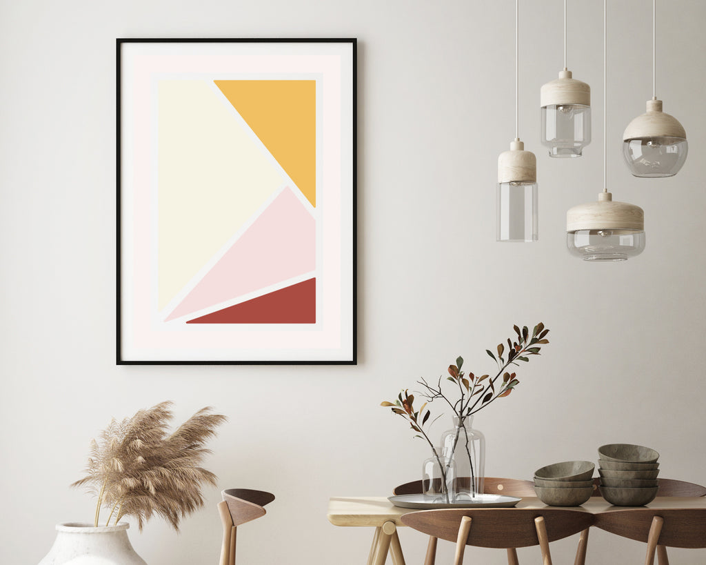 Scandinavian Triangle Blocks Print