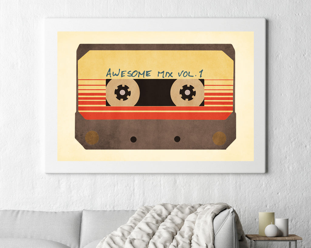 Guardians of The Galaxy Cassette Mixtape V1 Film Movie Poster