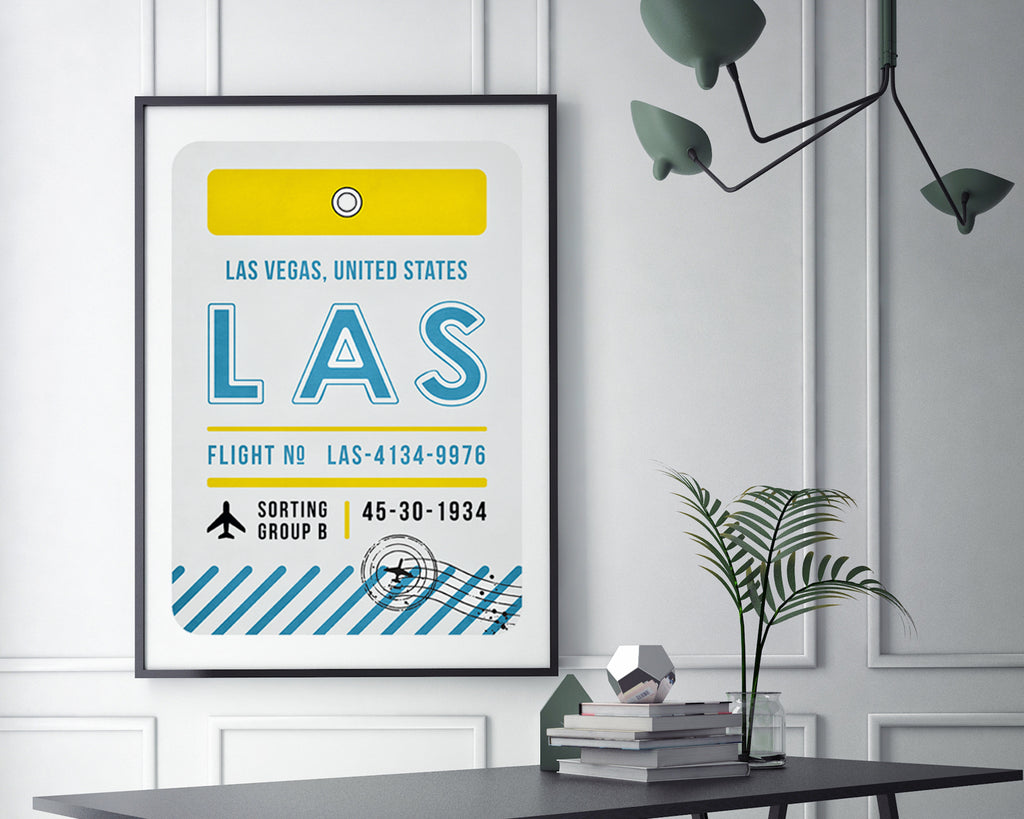 Las Vegas, United States of America Luggage Tag Minimal Travel Poster