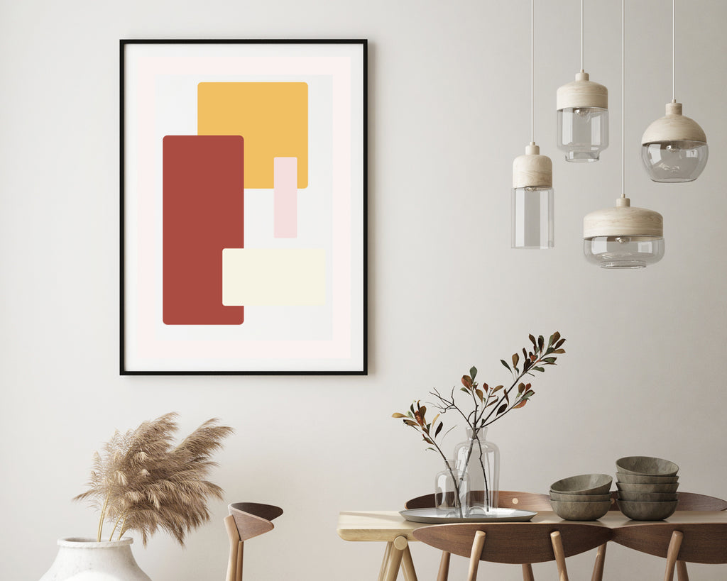 Scandinavian Overlapping Rectangles Print