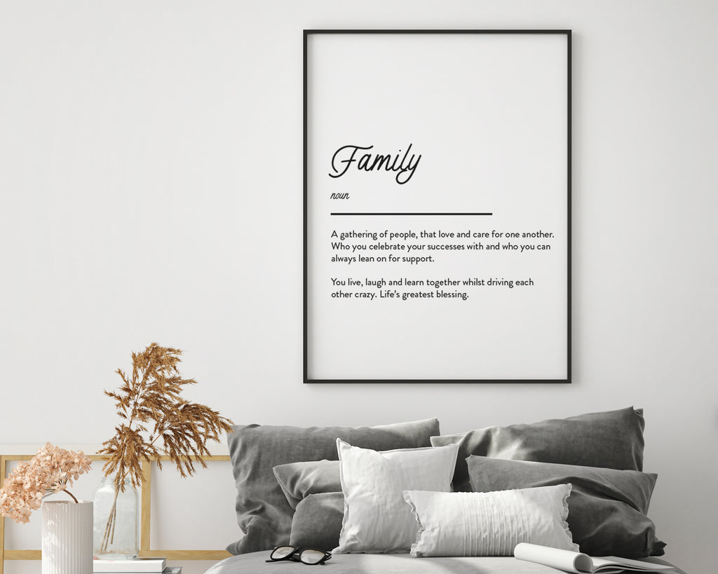 Family Definition Quote Print
