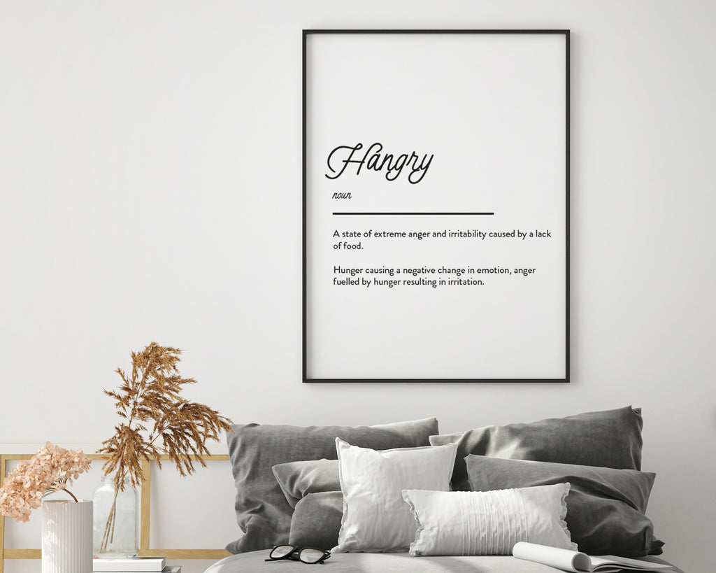 Hungry Definition Quote Wall Art Print