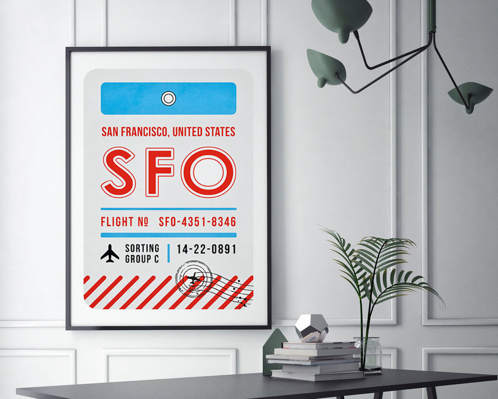 San Francisco, United States of America Luggage Tag Minimal Travel Poster