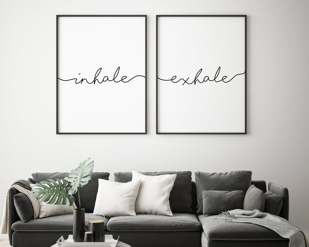 Inhale Exhale Typography Print