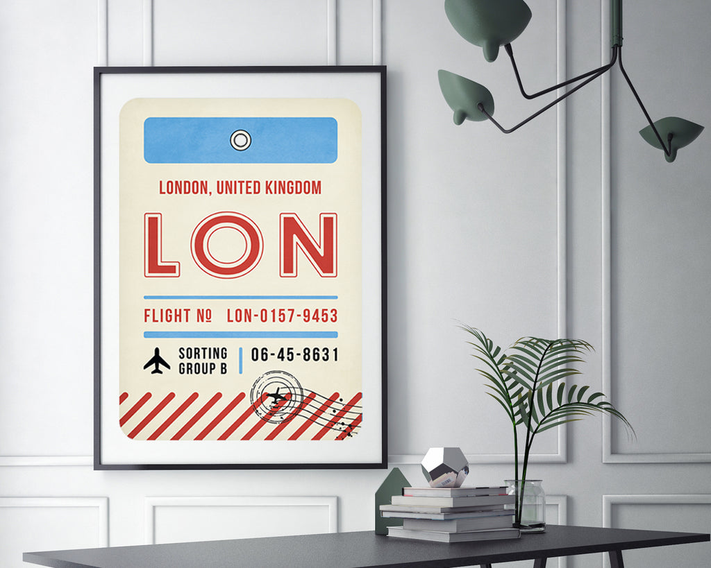 London, United Kingdom Luggage Tag Travel Poster