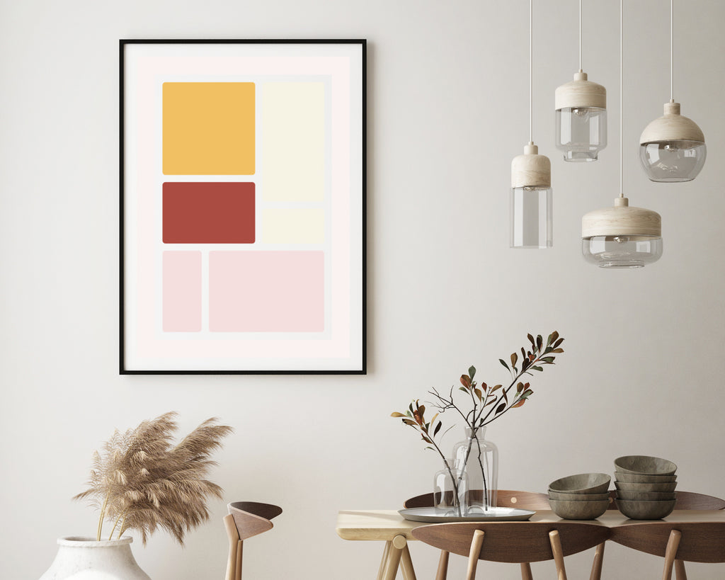 Scandinavian Square Blocks Print