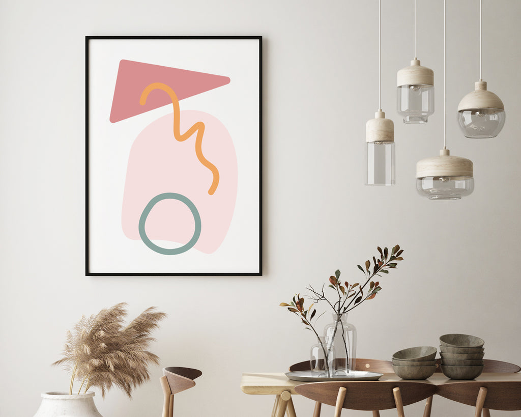 Scandinavian Geometric Pattern Wall Art Print