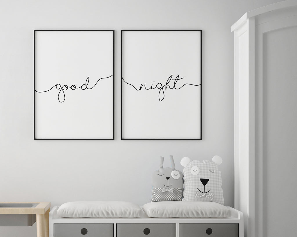 Good Night Typography Print