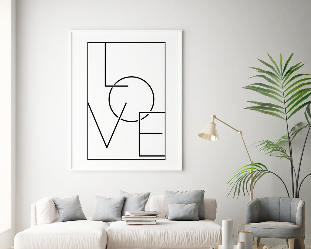 Love Typography Quote Wall Art Print