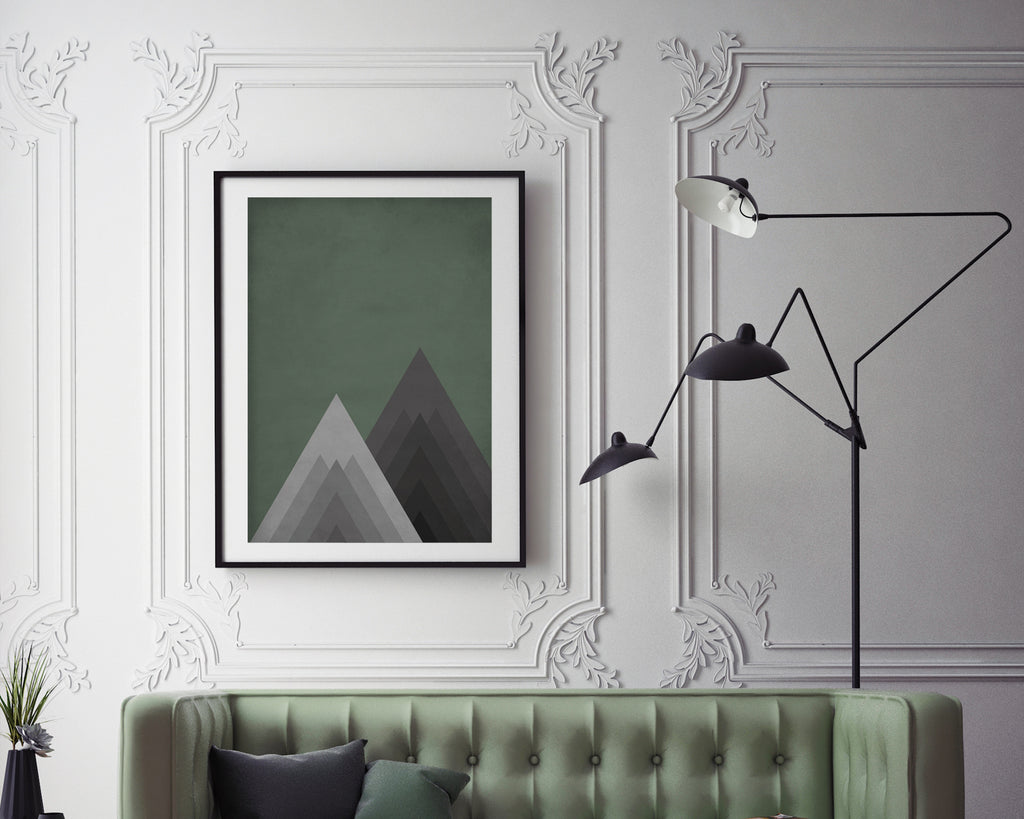 Geometric Mountains Print