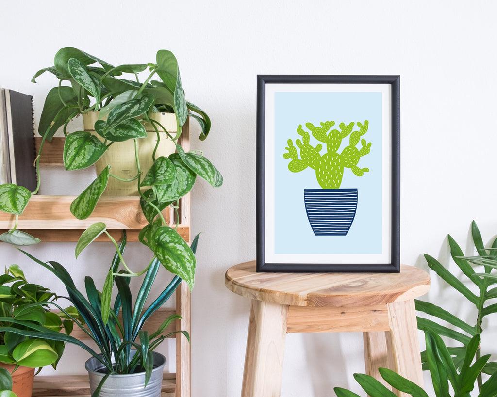 Illustrated Cactus Minimal Plant Poster