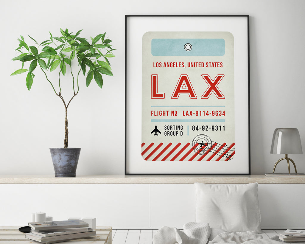 Los Angeles, United States of America Luggage Tag Minimal Travel Poster