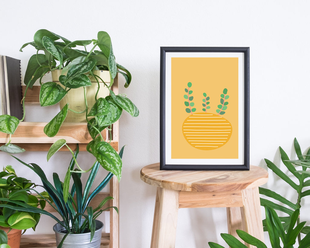 Illustrated Plant Plant Wall Art Print