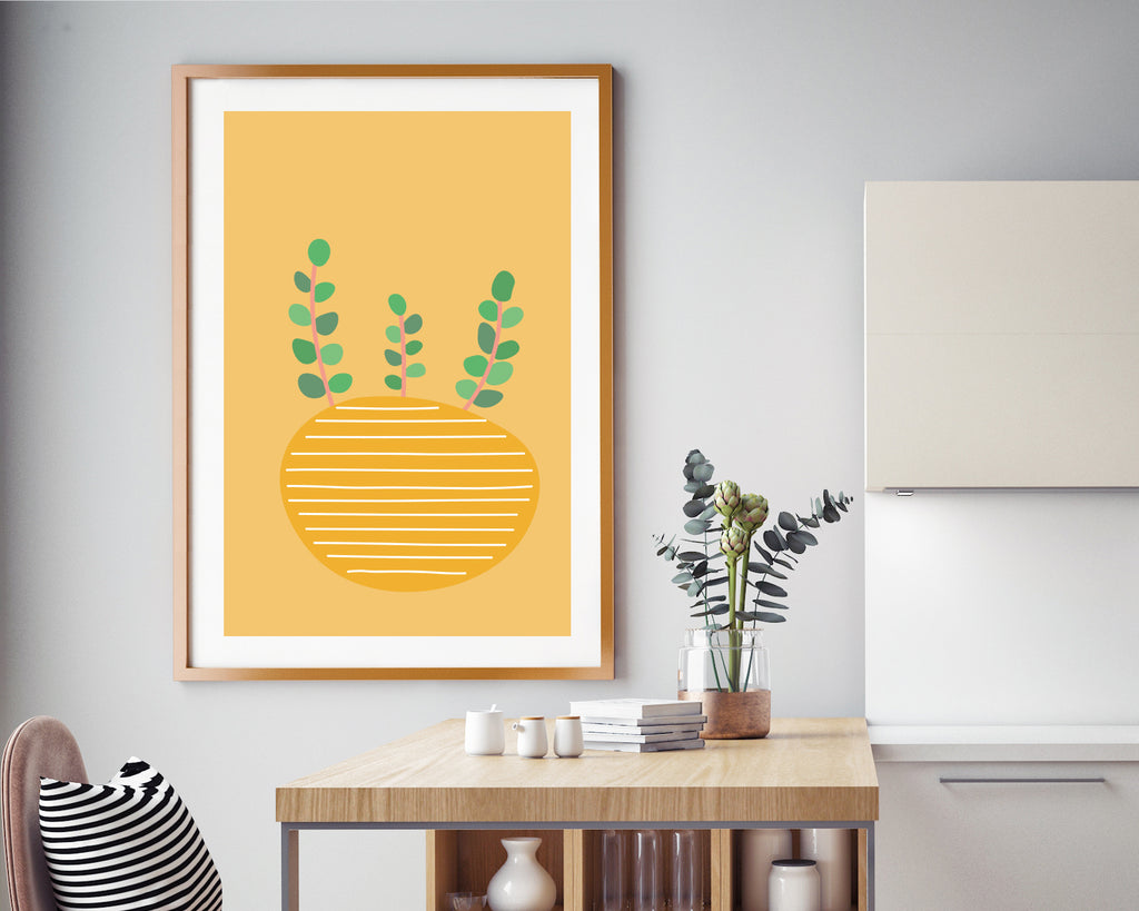 Illustrated Plant Minimal Plant Poster