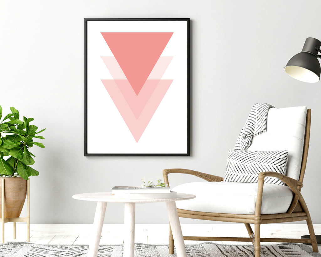 Pink Triangle Wall Art Print