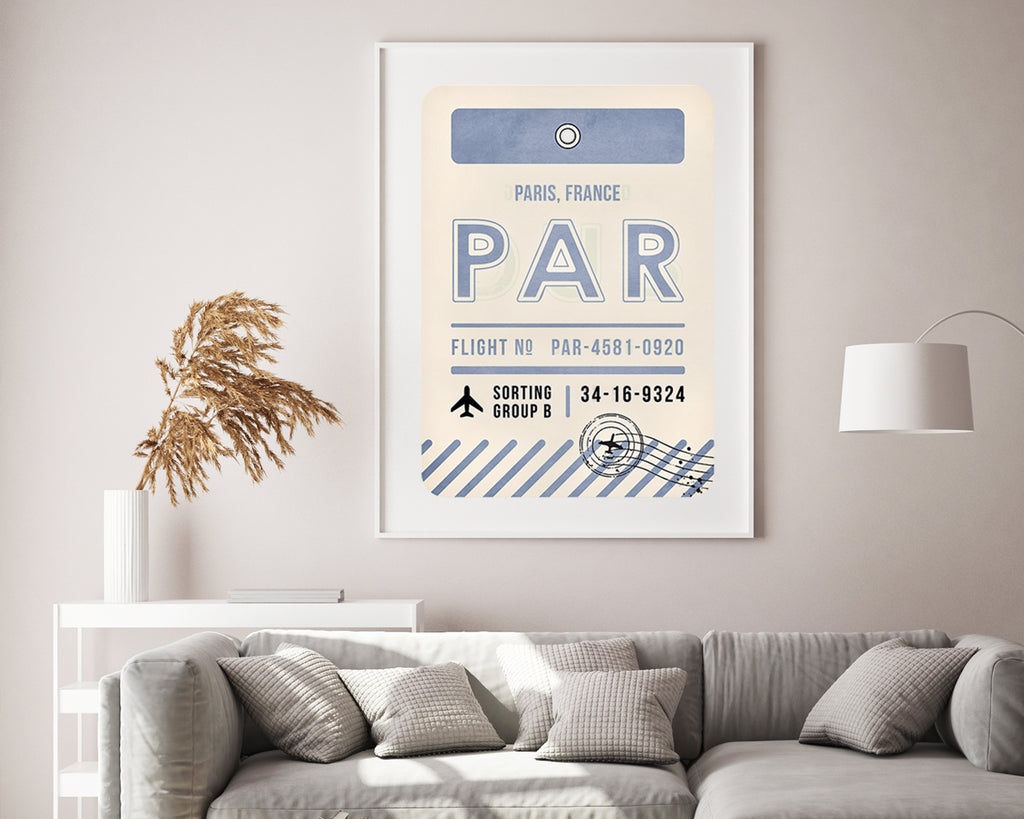 Paris, France Luggage Tag Travel Poster