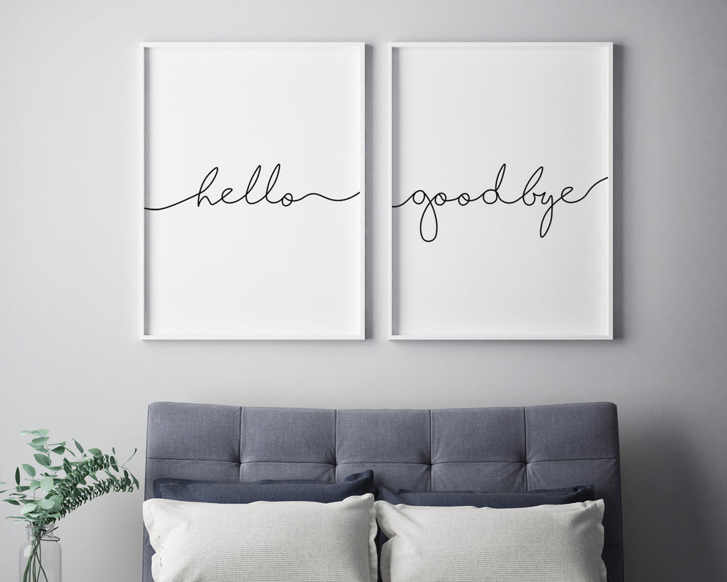 Hello Goodbye Typography Print