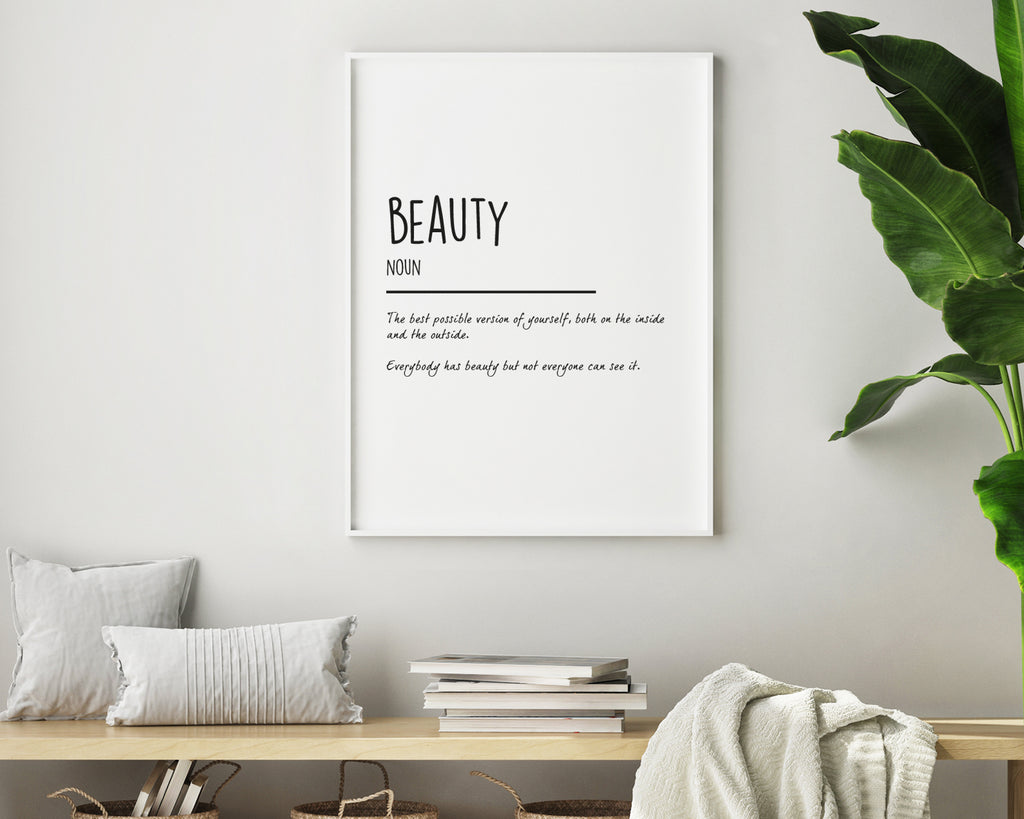 Beauty Definition Quote Print