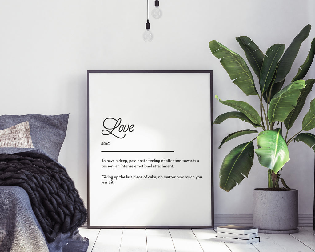 Love Definition Quote Print