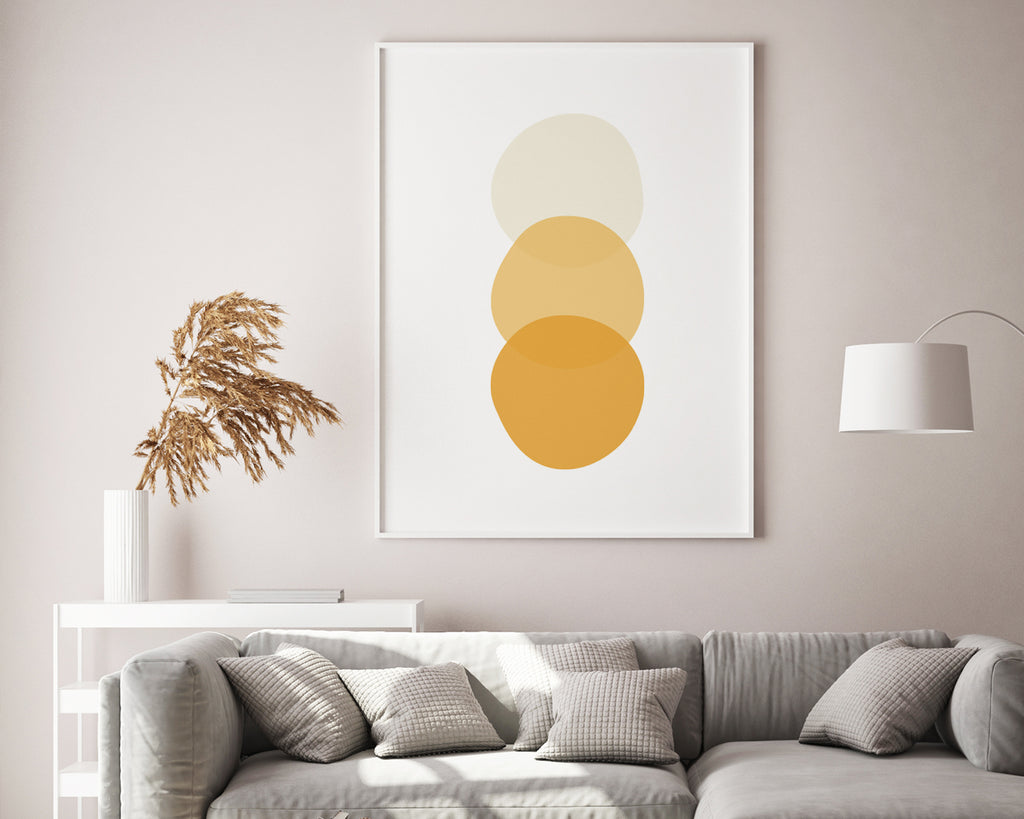 Scandinavian Yellow Circle Print