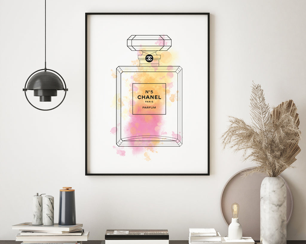 Chanel No.5 Perfume Bottle Wall Art Print