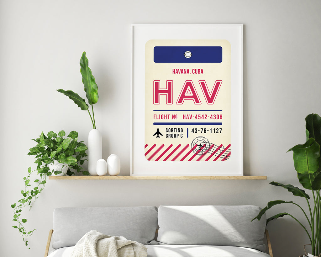 Havana, Cuba Luggage Tag Travel Poster