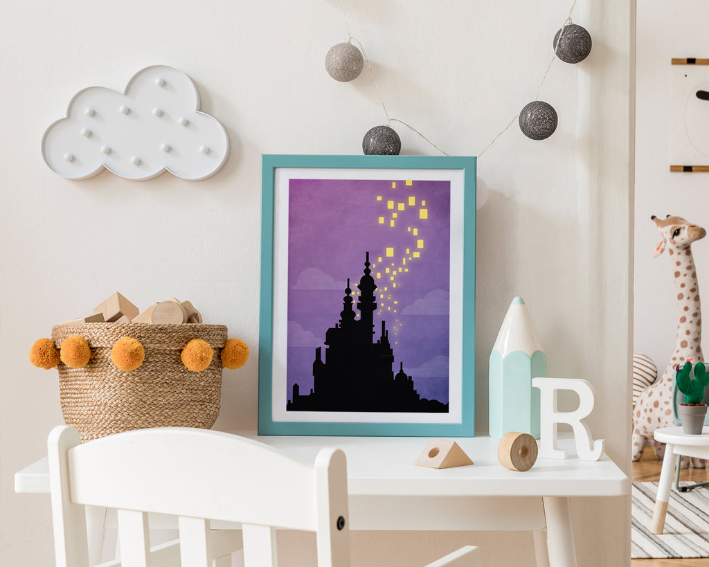 Disney Tangled Corona Castle Kids Film Movie Poster