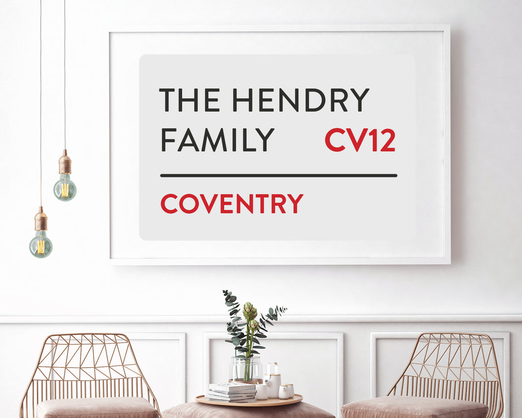 Personalised Home Street Sign Wall Art Print