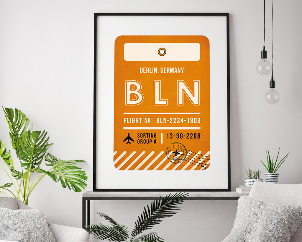 Berlin, Germany Luggage Tag Minimal Travel Poster