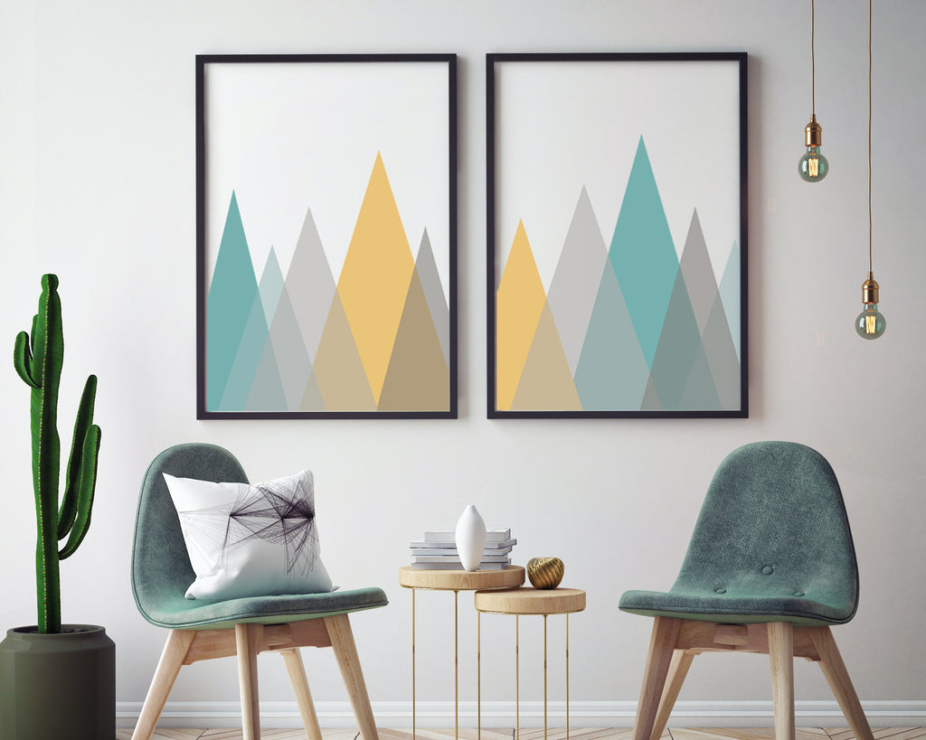 Triangle Mountain Landscape Art Print