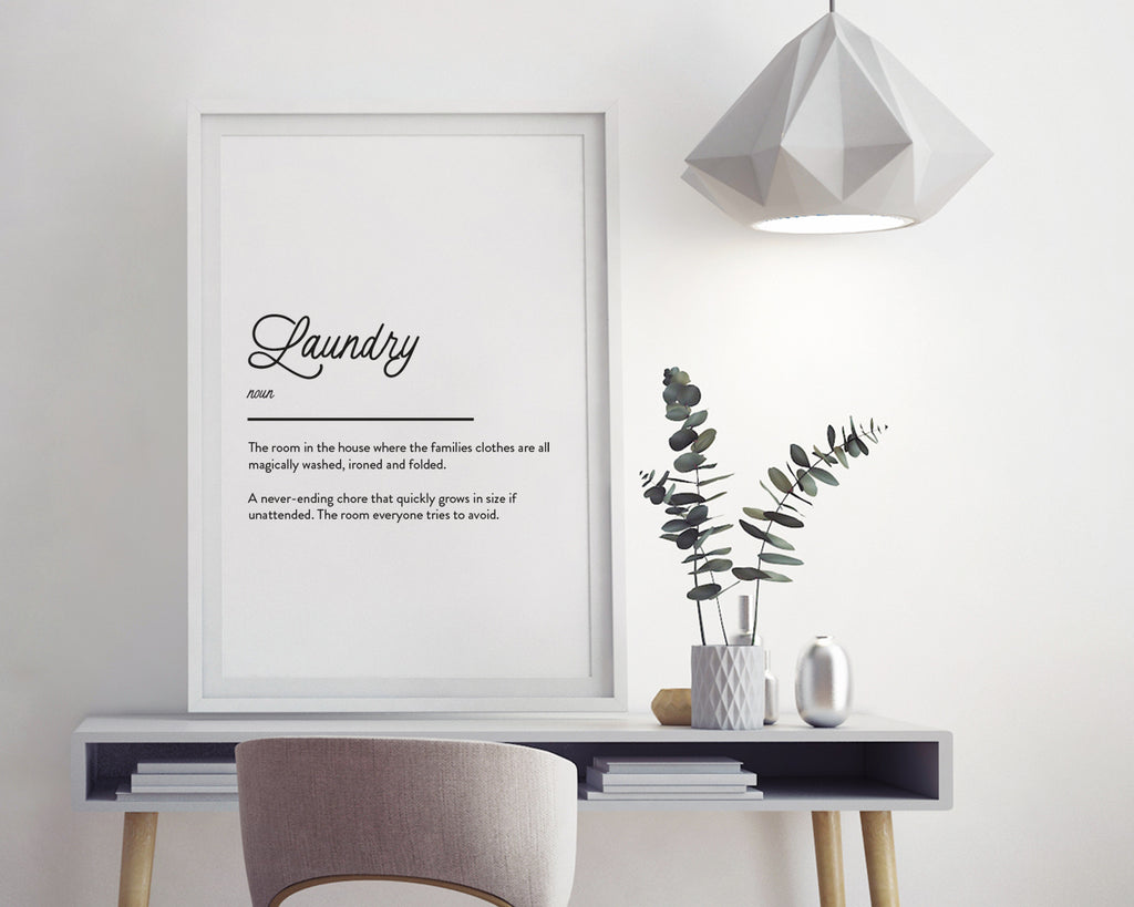 Laundry Definition Quote Wall Art Print