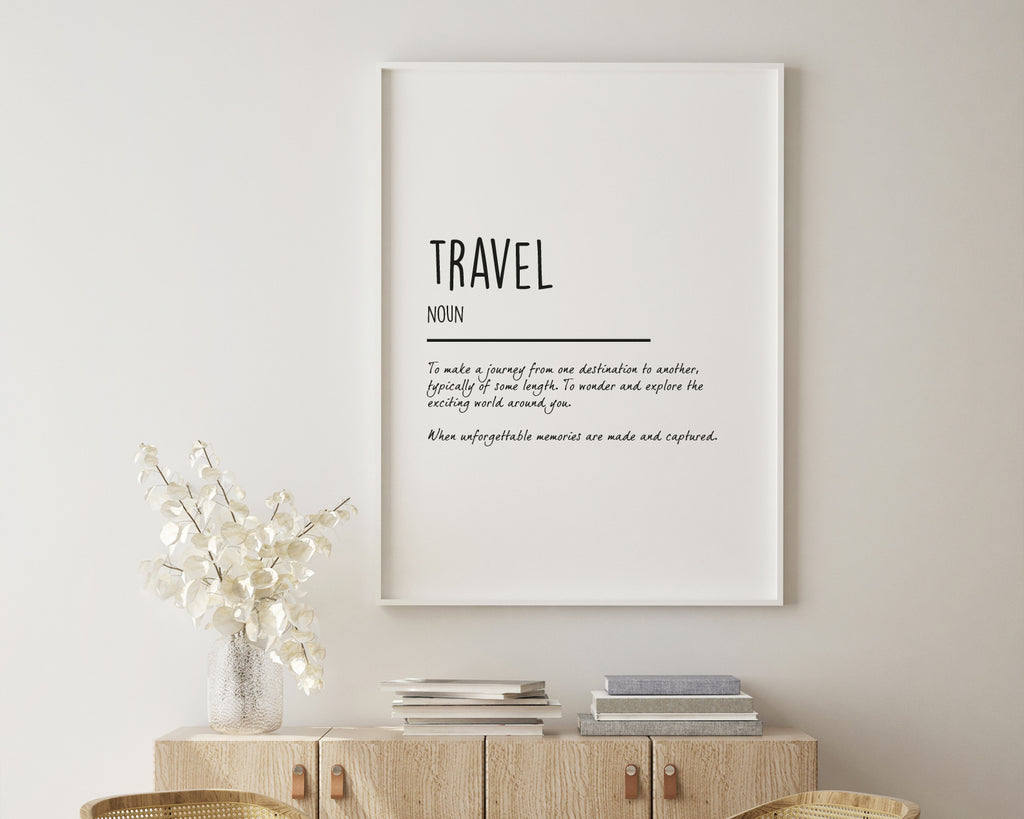Travel Definition Quote Wall Art Print