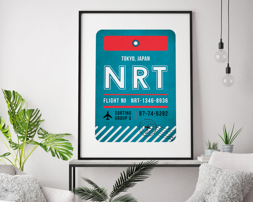 Tokyo, Japan Luggage Tag Travel Poster