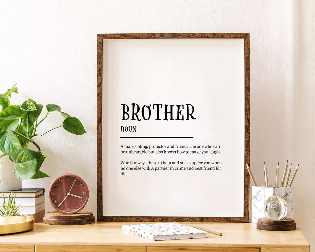 Brother Definition Quote Minimal Poster Print