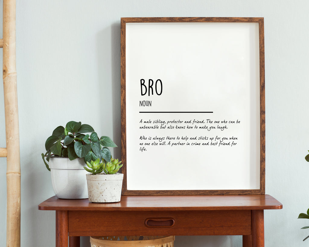 Brother Definition Quote Wall Art Print