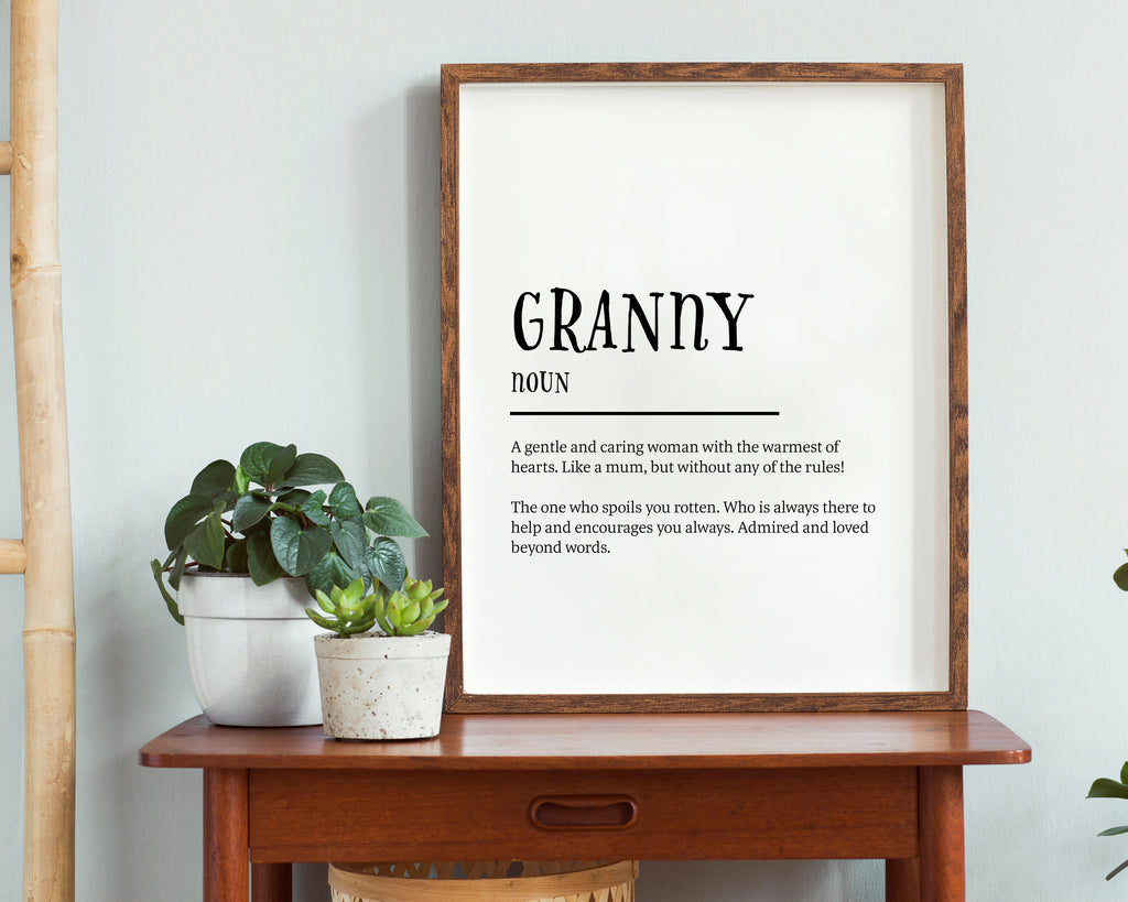 Grandma Definition Quote Wall Art Print