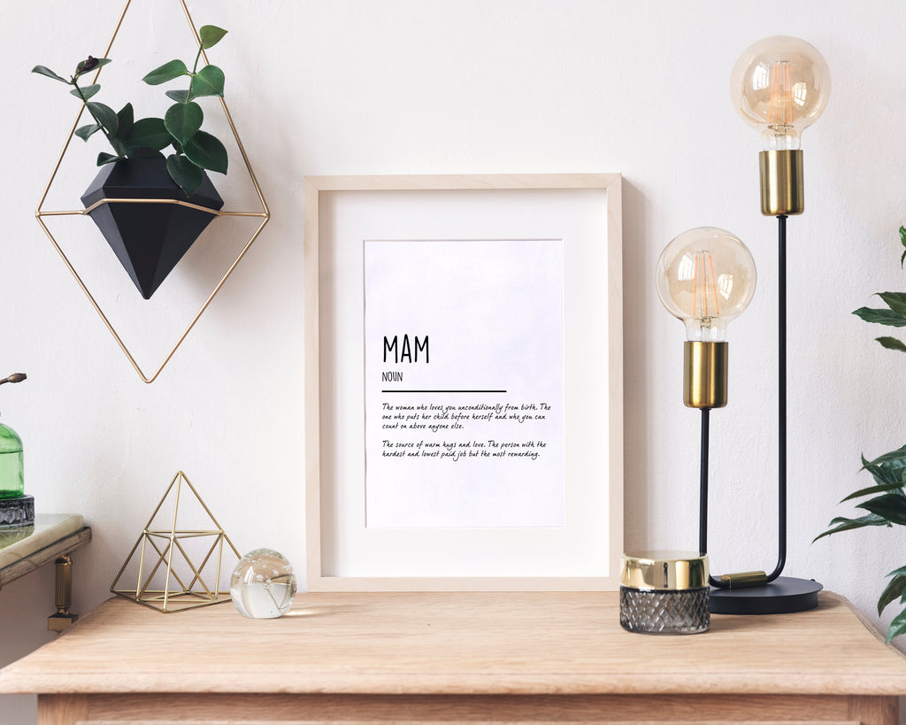 Mum Definition Quote Minimal Poster Print