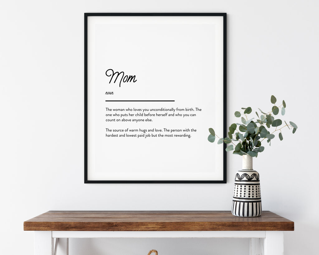Mum Definition Quote Wall Art Print