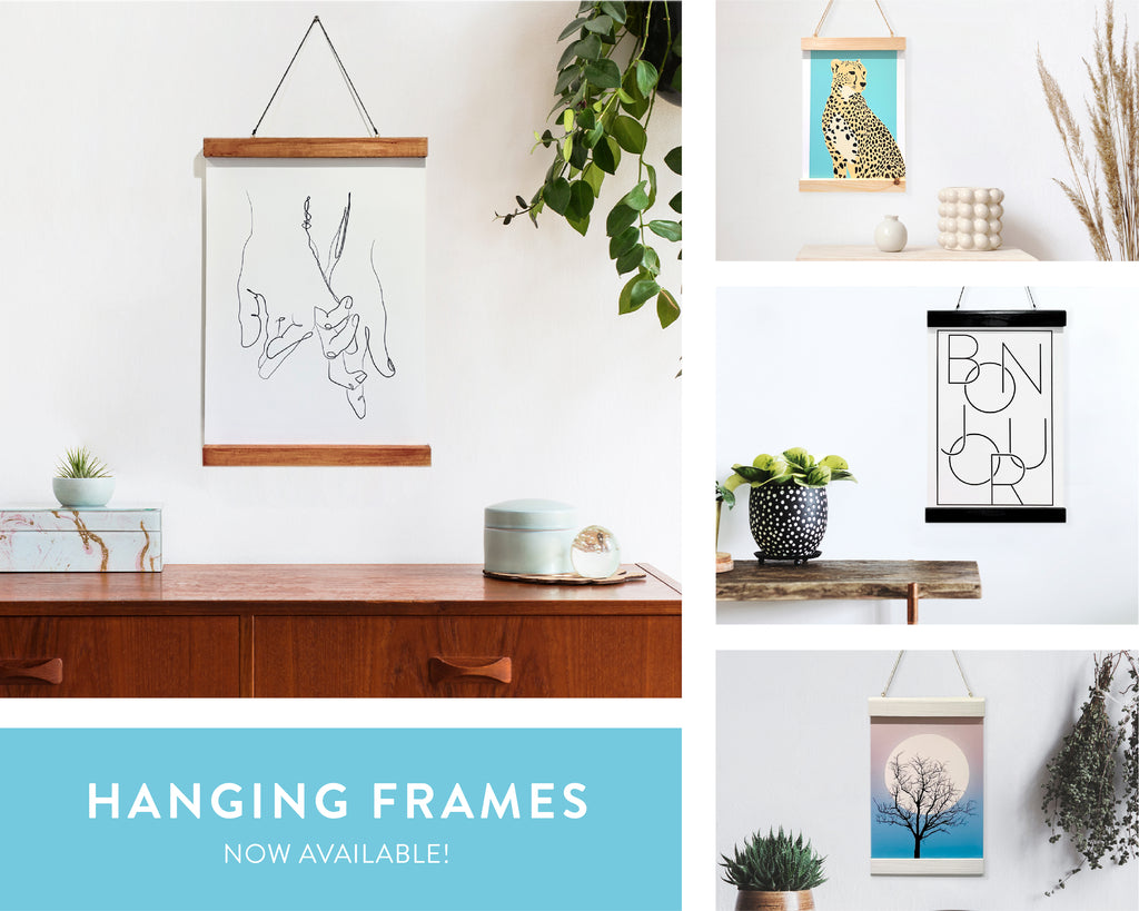 Wooden Hanging Frame with Straight Edges, Handmade in the UK