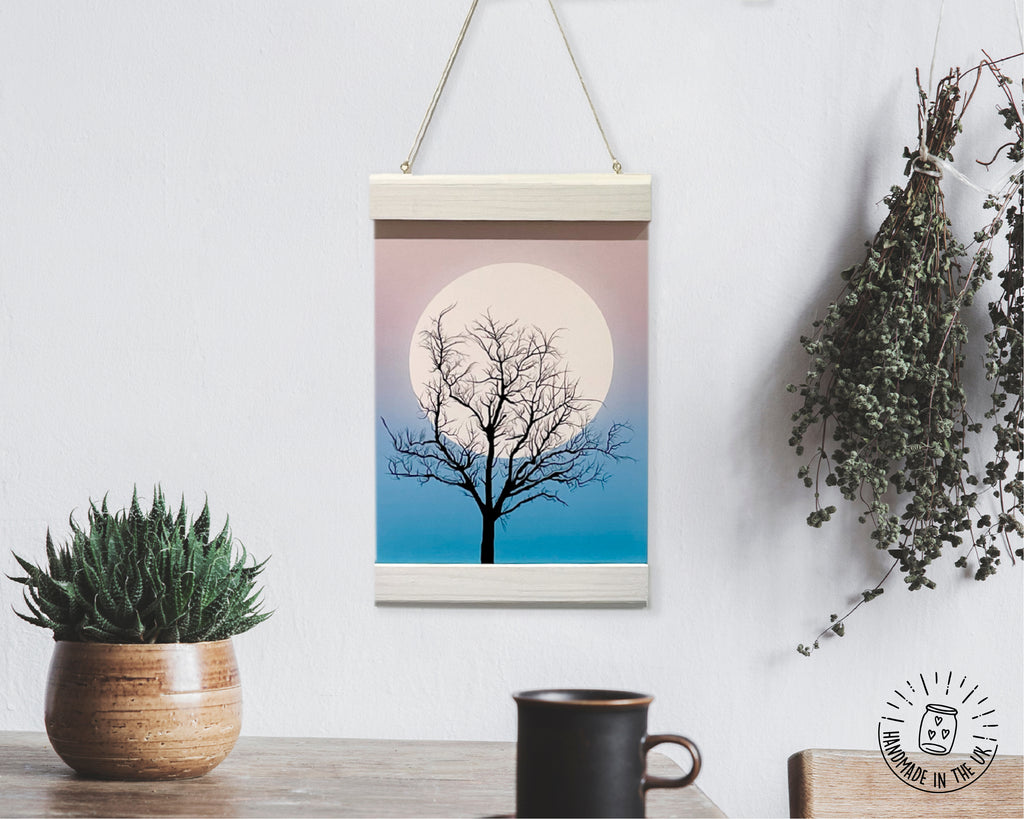 Wooden Hanging Frame with Curved Edges, Handmade in the UK