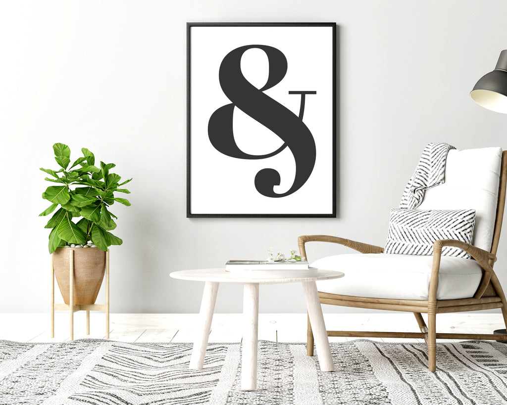 Ampersand Typography Wall Art Print