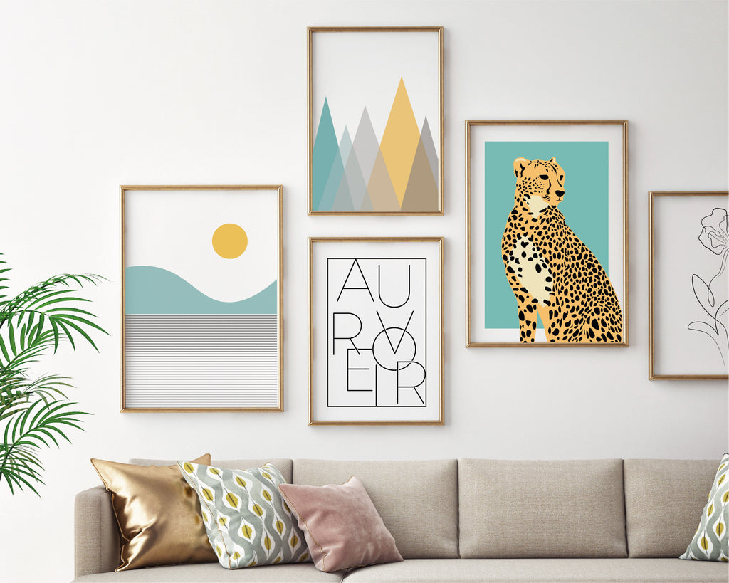 Serenity Gallery Wall Bundle Set of 5 Prints