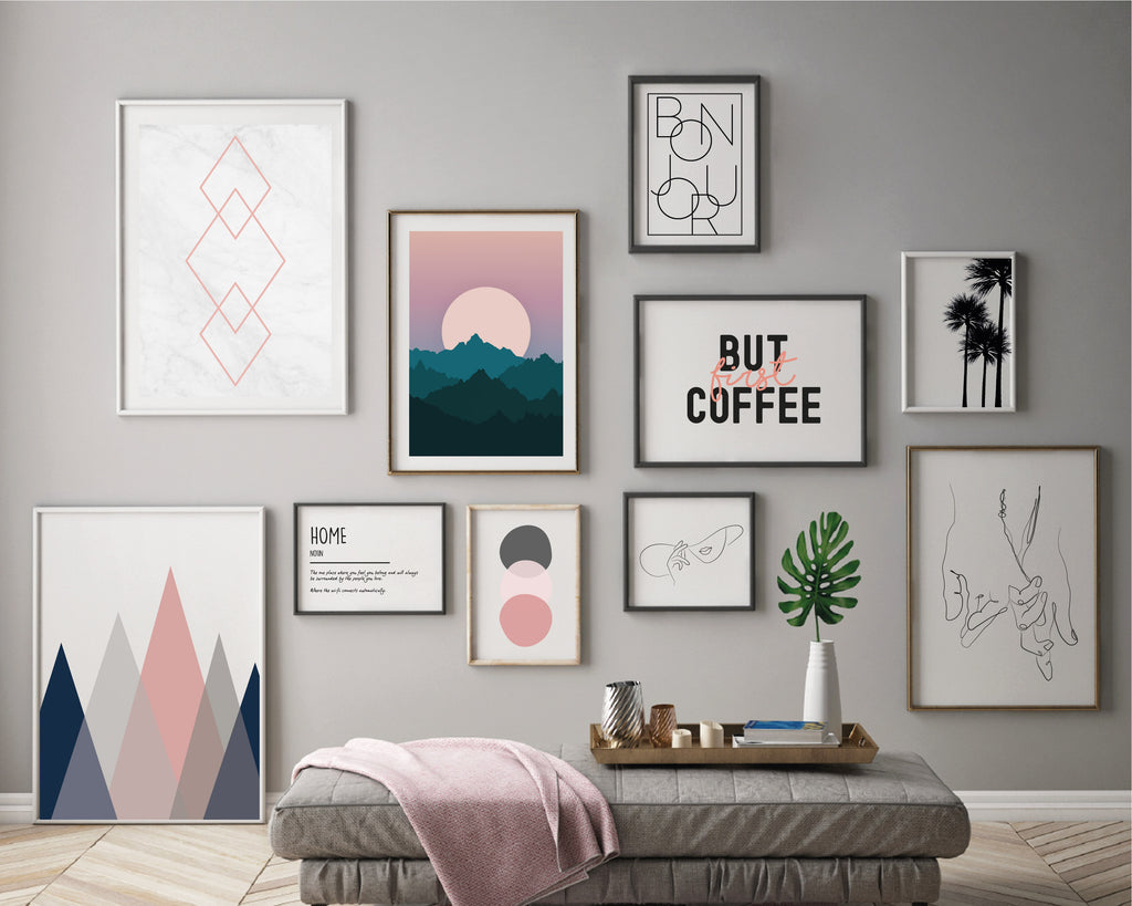 Electric Fusion Gallery Wall Bundle Set of 10 Prints