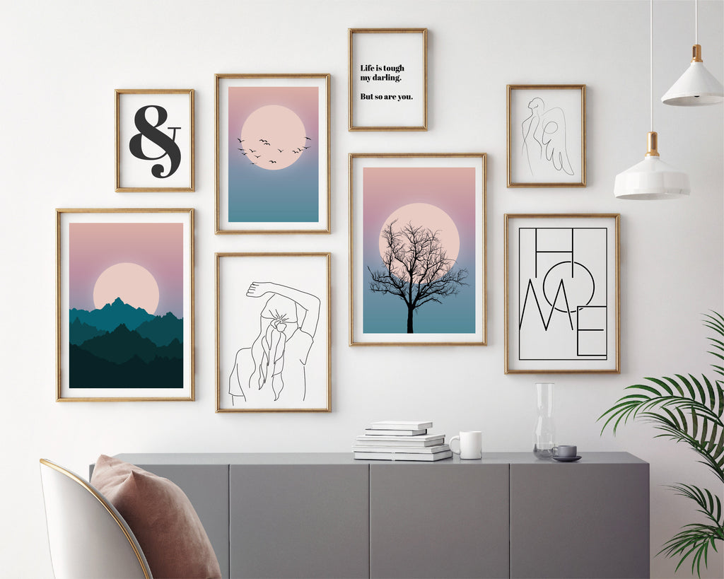 Daydream Gallery Wall Bundle Set of 8 Prints