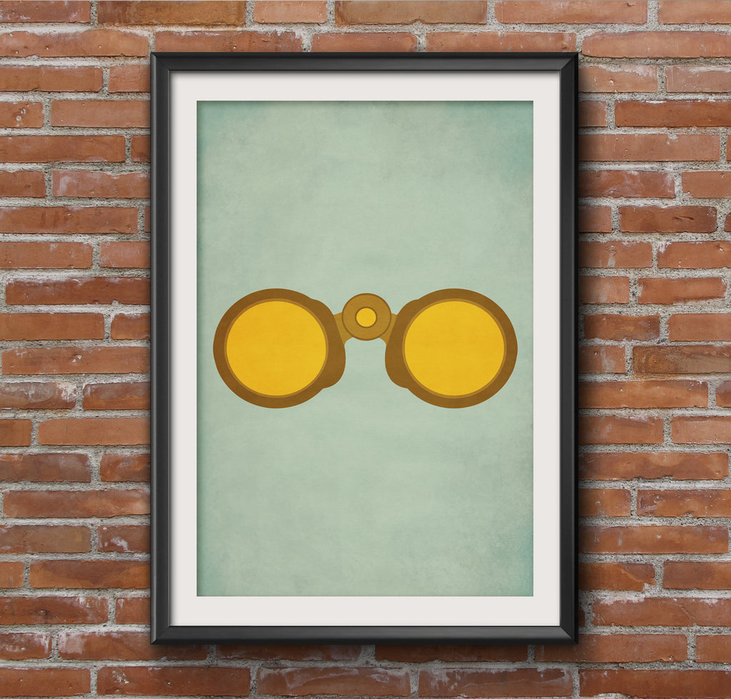 Moonrise Kingdom Binoculars Alternative Minimal Movie Poster