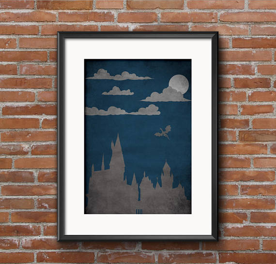 Harry Potter Hogwarts Castle Film Movie Poster