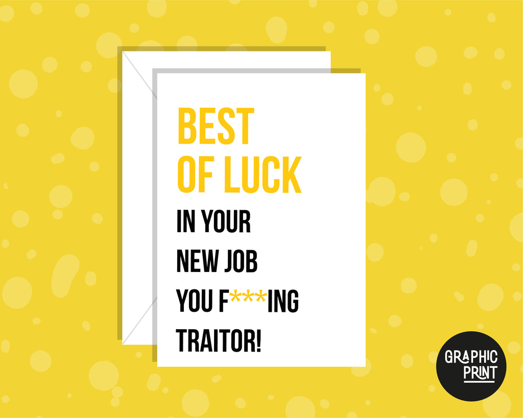 Best of Luck In Your New Job, New Job Leaving Card
