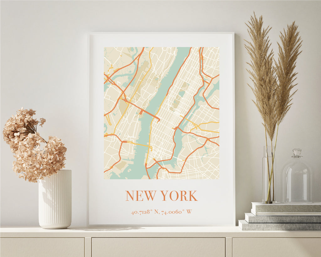 Personalised Vintage City Map Travel Poster