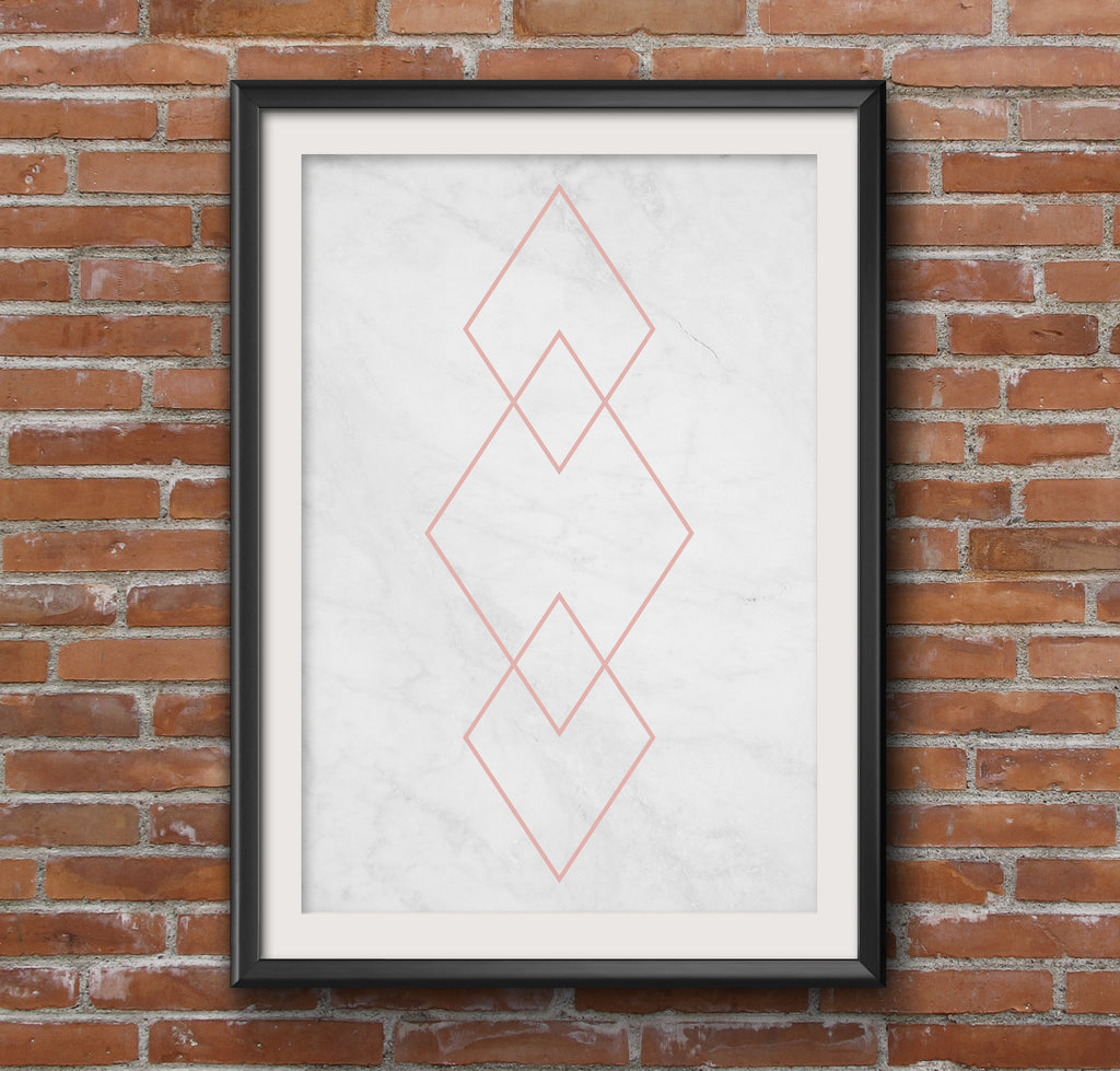 Pastel Geometric Diamond Art Poster
